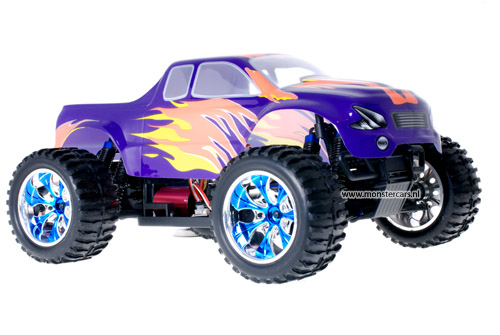 Himoto Brushless Truck Blue Orange 2.4GHz AANBIEDING!